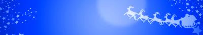 クリスマスバナー-サンタトナカイ ブルー