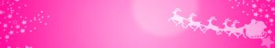 クリスマスバナー-サンタトナカイ ピンク