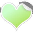 ハート型シールpng画像