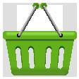 買い物かごアイコン大-緑