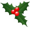 xmasヒイラギ アイコン深緑1