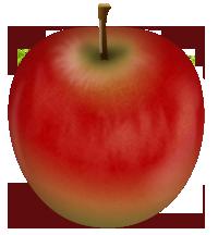 赤りんごイラスト