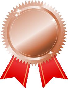 銅メダル画像赤リボン