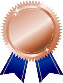 銅メダル画像青ブルーリボン