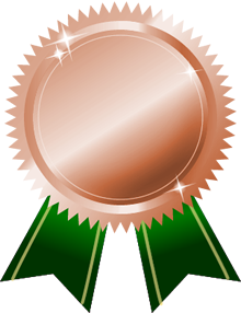 銅メダル画像グリーンリボン