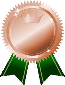 銅メダル画像王冠付