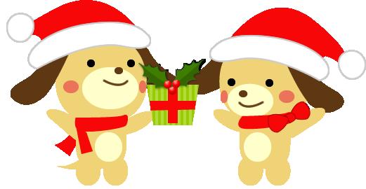「クリスマス イラスト 犬」の画像検索結果