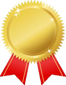 金メダル画�赤リボン