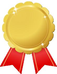 花形金メダル画像赤リボン