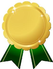花形金メダル画像グリーンリボン