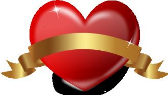 ハートリボンベクターイラスト赤とバレンタイン文字