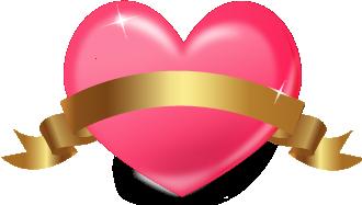 ハートベクターイラストピンクバレンタイン文字画像