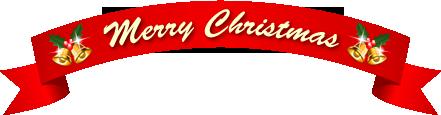クリスマス文字とリボン赤