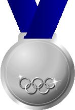 オリンピック銀メダル画像