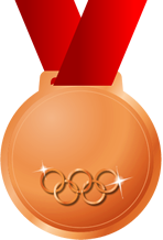 オリンピック銅メダル画像