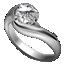 ダイヤ指輪プラチナ小