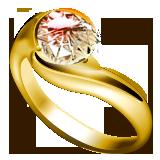 ダイヤ指輪ゴールドイラスト