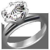 ダイヤたてづめ指輪プラチナイラスト