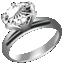 ダイヤたてづめ指輪プラチナ小