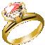 ダイヤたて爪指輪ゴールド小