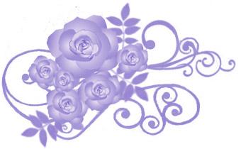 薔薇(バラ)イラスト素材画像 ブルー
