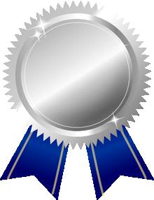 銀メダル画像青ブルーリボン
