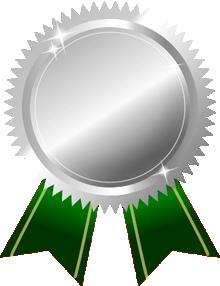 銀メダル画像グリーンリボン
