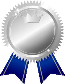 銀メダル画像王冠付