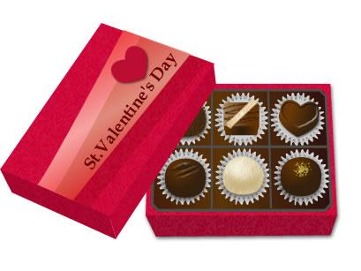 バレンタインイラスト チョコレート 素材