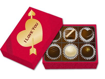 バレンタイン イラスト チョコレート画像