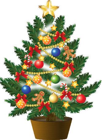 クリスマスツリーイラスト3