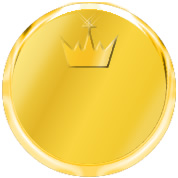 gold medal plate with crown for white background