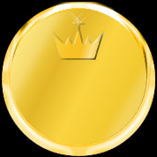 gold medal plate with crown for black background