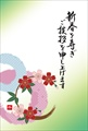 桜の花輪の和風イラスト-イラスト