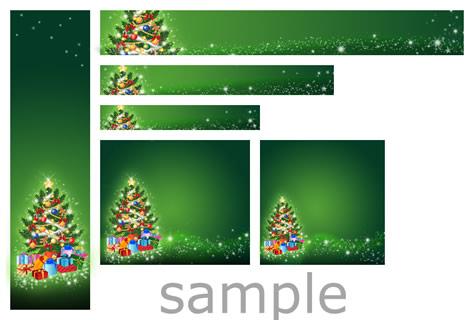 クリスマスバナー20ダウンロード画像見本